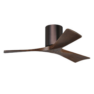 Irene-3H Brushed Bronze and Walnut 42-Inch Outdoor Ceiling Fan