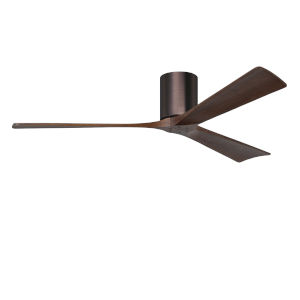 Irene-3H Brushed Bronze and Walnut 60-Inch Outdoor Ceiling Fan