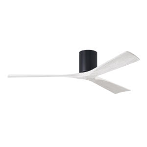 Irene-3H Matte Black and Matte White 60-Inch Outdoor Ceiling Fan