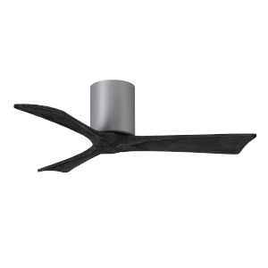 Irene-3H Brushed Nickel and Matte Black 42-Inch Outdoor Ceiling Fan