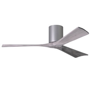 Irene-3H Brushed Nickel 52-Inch Ceiling Fan with Barnwood Tone Blades