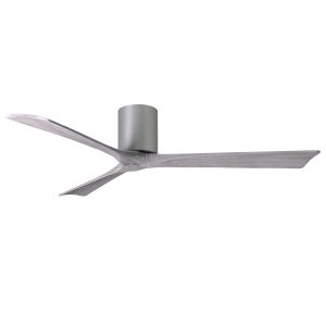 Irene-3H Brushed Nickel 60-Inch Ceiling Fan with Barnwood Tone Blades