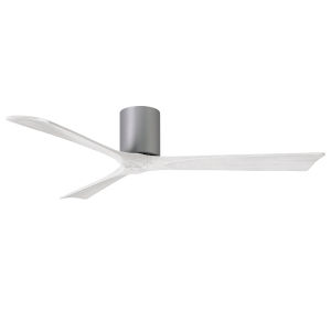Irene-3H Brushed Nickel and Matte White 60-Inch Outdoor Ceiling Fan