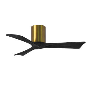 Irene-3H Brushed Brass and Matte Black 42-Inch Outdoor Ceiling Fan