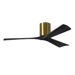 Irene-3H Brushed Brass and Matte Black 52-Inch Outdoor Ceiling Fan