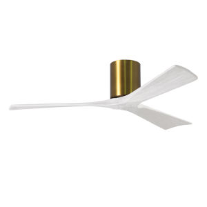 Irene-3H Brushed Brass and Matte White 52-Inch Outdoor Ceiling Fan