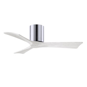 Irene-3H Polished Chrome and Matte White 42-Inch Outdoor Ceiling Fan