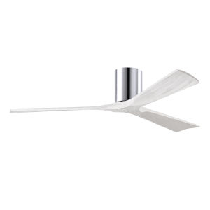 Irene-3H Polished Chrome and Matte White 60-Inch Outdoor Ceiling Fan