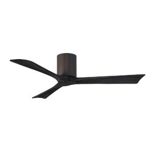 Irene-3H Textured Bronze and Matte Black 52-Inch Outdoor Ceiling Fan
