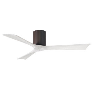Irene-3H Textured Bronze and Matte White 52-Inch Outdoor Ceiling Fan