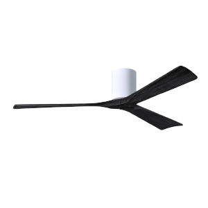 Irene-3H Gloss White and Matte Black 60-Inch Outdoor Ceiling Fan