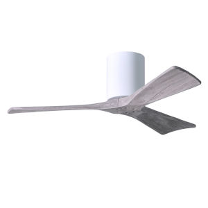 Irene-3H Gloss White 42-Inch Ceiling Fan with Barnwood Tone Blades