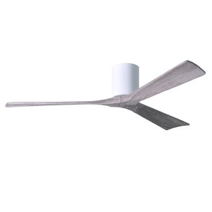Irene-3H Gloss White 60-Inch Ceiling Fan with Barnwood Tone Blades