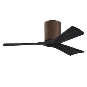 Irene-3H Walnut and Matte Black 42-Inch Outdoor Ceiling Fan