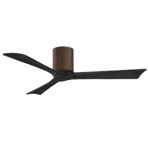 Irene-3H Walnut and Matte Black 52-Inch Outdoor Ceiling Fan