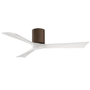 Irene-3H Walnut and Matte White 52-Inch Outdoor Ceiling Fan