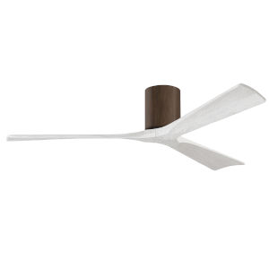 Irene-3H Walnut and Matte White 60-Inch Outdoor Ceiling Fan