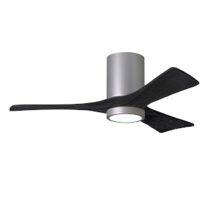 Irene-3HLK Brushed Nickel and Matte Black 60-Inch Ceiling Fan with LED Light Kit