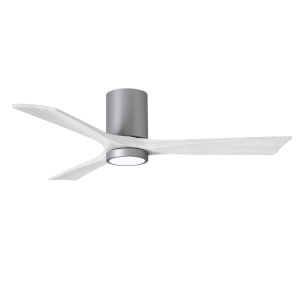 Irene-3HLK Brushed Nickel and Matte White 52-Inch Ceiling Fan with LED Light Kit