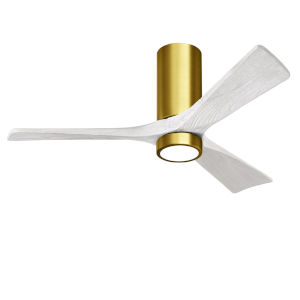 Irene-3HLK Brushed Brass and Matte White 52-Inch Ceiling Fan with LED Light Kit