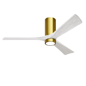 Irene-3HLK Brushed Brass and Matte White 60-Inch Ceiling Fan with LED Light Kit