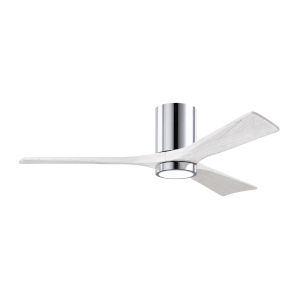 Irene-3HLK Polished Chrome and Matte White 52-Inch Ceiling Fan with LED Light Kit