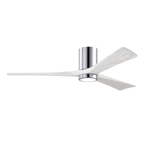 Irene-3HLK Polished Chrome and Matte White 60-Inch Ceiling Fan with LED Light Kit