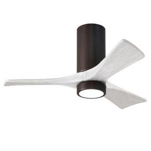 Irene-3HLK Textured Bronze and Matte White 42-Inch Ceiling Fan with LED Light Kit