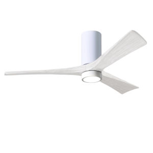 Irene-3HLK Gloss White 60-Inch Ceiling Fan with LED Light Kit