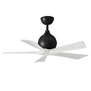 Irene-5 Matte Black and Matte White 42-Inch Outdoor Ceiling Fan