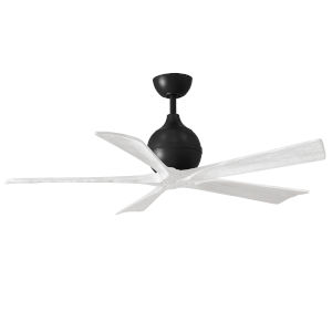 Irene-5 Matte Black and Matte White 52-Inch Outdoor Ceiling Fan