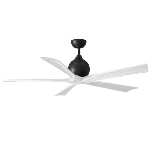 Irene-5 Matte Black and Matte White 60-Inch Outdoor Ceiling Fan