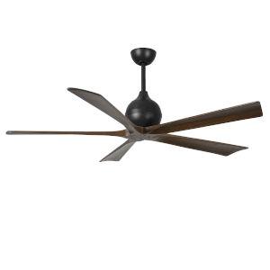Irene-5 Matte Black and Walnut 60-Inch Outdoor Ceiling Fan