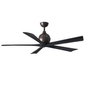 Irene-5 Textured Bronze and Matte Black 60-Inch Outdoor Ceiling Fan