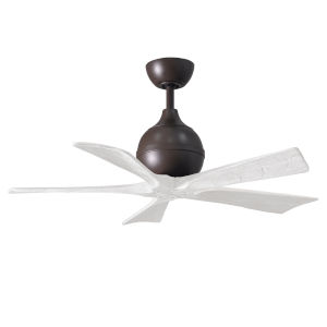 Irene-5 Textured Bronze and Matte White 42-Inch Outdoor Ceiling Fan