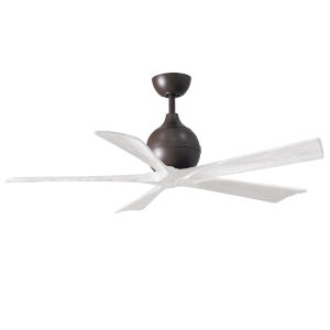 Irene-5 Textured Bronze and Matte White 52-Inch Outdoor Ceiling Fan