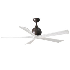 Irene-5 Textured Bronze and Matte White 60-Inch Outdoor Ceiling Fan