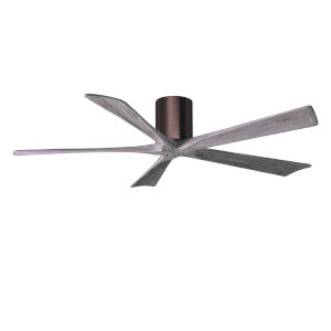 Irene-5H Brushed Bronze and Barnwood 60-Inch Outdoor Ceiling Fan