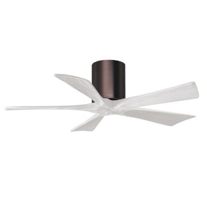 Irene-5H Brushed Bronze and Matte White 42-Inch Outdoor Ceiling Fan
