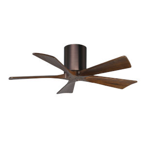 Irene-5H Brushed Bronze and Walnut 42-Inch Outdoor Ceiling Fan