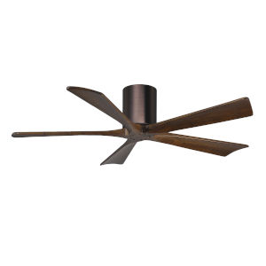 Irene-5H Brushed Bronze and Walnut 52-Inch Outdoor Ceiling Fan