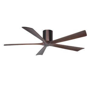 Irene-5H Brushed Bronze and Walnut 60-Inch Outdoor Ceiling Fan