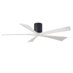 Irene-5H Matte Black and Matte White 60-Inch Outdoor Ceiling Fan