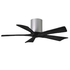 Irene-5H Brushed Nickel and Matte Black 42-Inch Outdoor Ceiling Fan