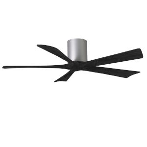 Irene-5H Brushed Nickel and Matte Black 52-Inch Outdoor Ceiling Fan