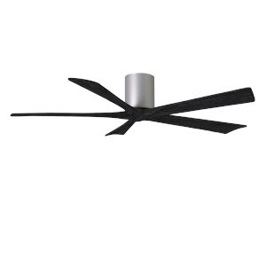 Irene-5H Brushed Nickel and Matte Black 60-Inch Outdoor Ceiling Fan