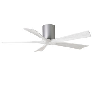 Irene-5H Brushed Nickel and Matte White 52-Inch Outdoor Ceiling Fan