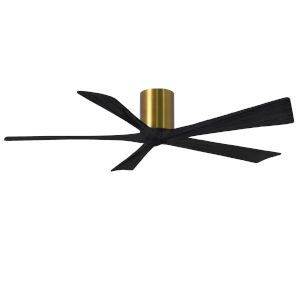 Irene-5H Brushed Brass and Matte Black 60-Inch Outdoor Ceiling Fan