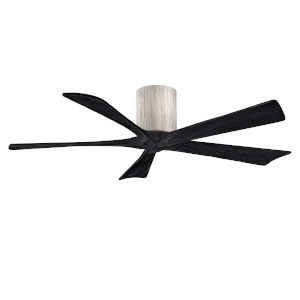 Irene-5H Barnwood and Matte Black 52-Inch Outdoor Ceiling Fan