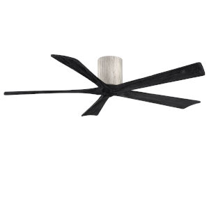 Irene-5H Barnwood and Matte Black 60-Inch Outdoor Ceiling Fan
